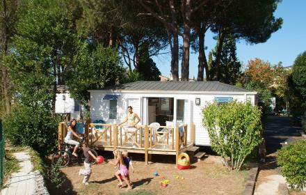 Mobil home lumineux